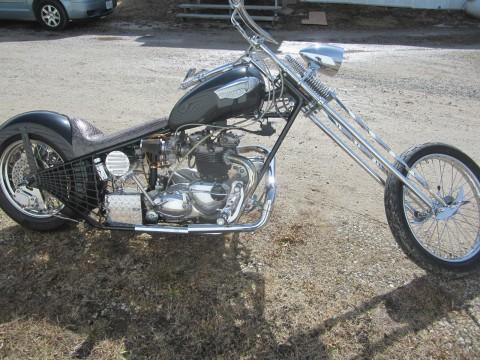 1967 Triumph Bonneville Chopper Black Metallic Custom Built for sale