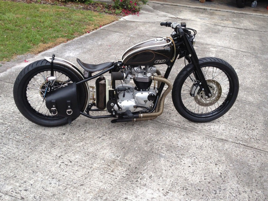 1969 triumph bonneville t120r bobber custom for sale. Black Bedroom Furniture Sets. Home Design Ideas