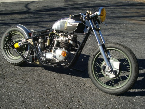 1971 Triumph Bonneville bobber custom chopper cafe motorcycle for sale