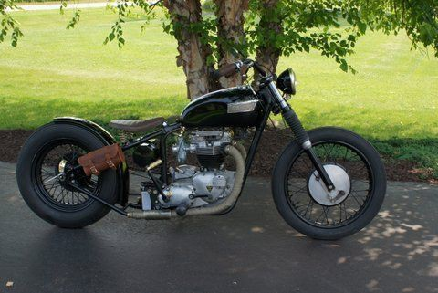 1966 Triumph Bonneville 650 Bobber- 1 kick bike for sale