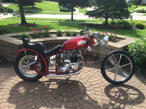 1970 Triumph Trophy TR6-C 650 Old School Custom Chopper for sale