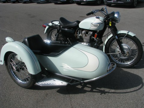 1971 Triumph T 150 Trident Classic with a C. Stanley Inc. cery cool side car. for sale