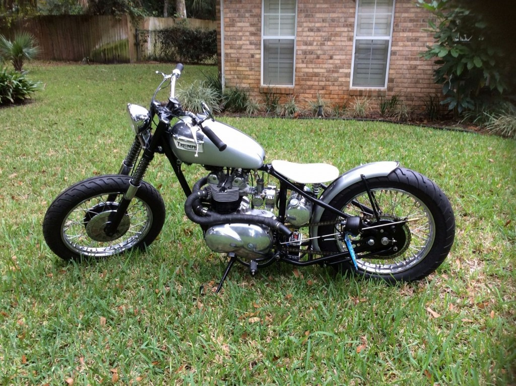 1958 Triumph Bobber (beautiful Bike that Needs Nothing) Model: T100 5TA