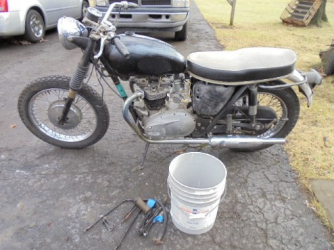 1966 Triumph Bonneville 650 T120 Vintage BARN FIND Matching Numbers for sale