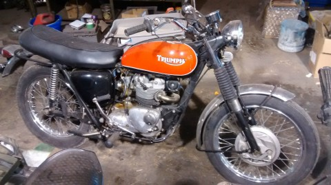 1969 Triumph T100 Trials 550cc Barn Find for sale