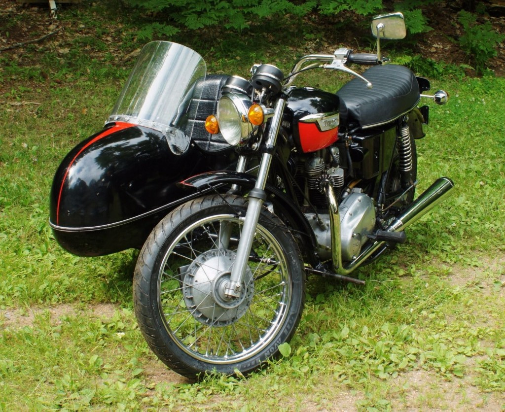 1971 Triumph Trophy 650 Motorcycle with Sidecar