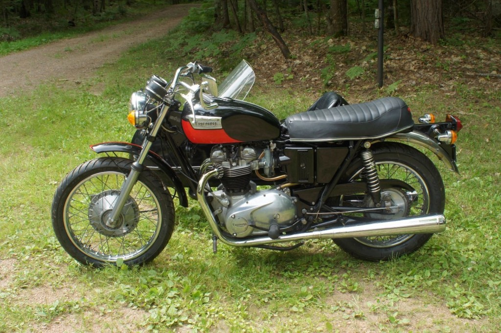 1971 triumph trophy 650 motorcycle with sidecar for sale. Black Bedroom Furniture Sets. Home Design Ideas