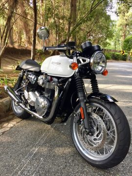 2016 Triumph Thruxton 1200 Pure White for sale