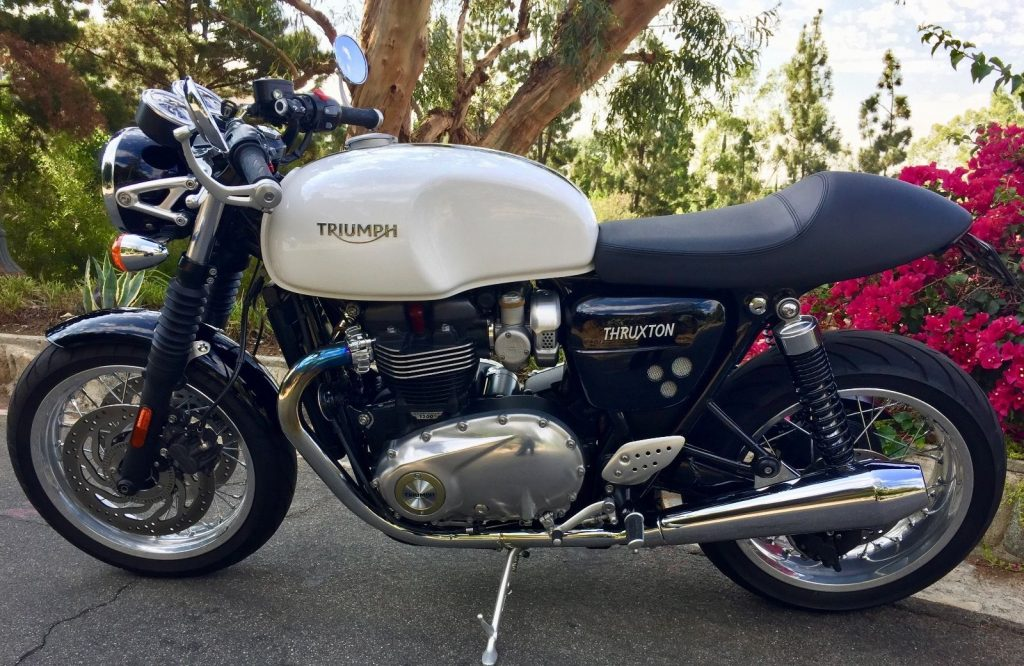 2016 Triumph Thruxton 1200 Pure White