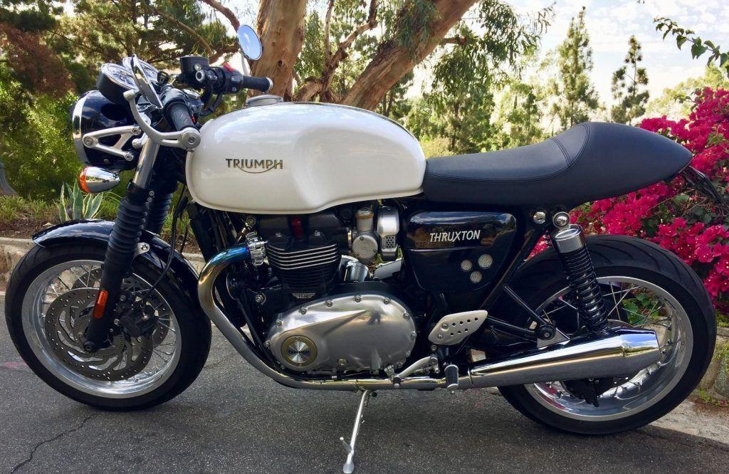2016 Triumph Thruxton 1200 Pure White