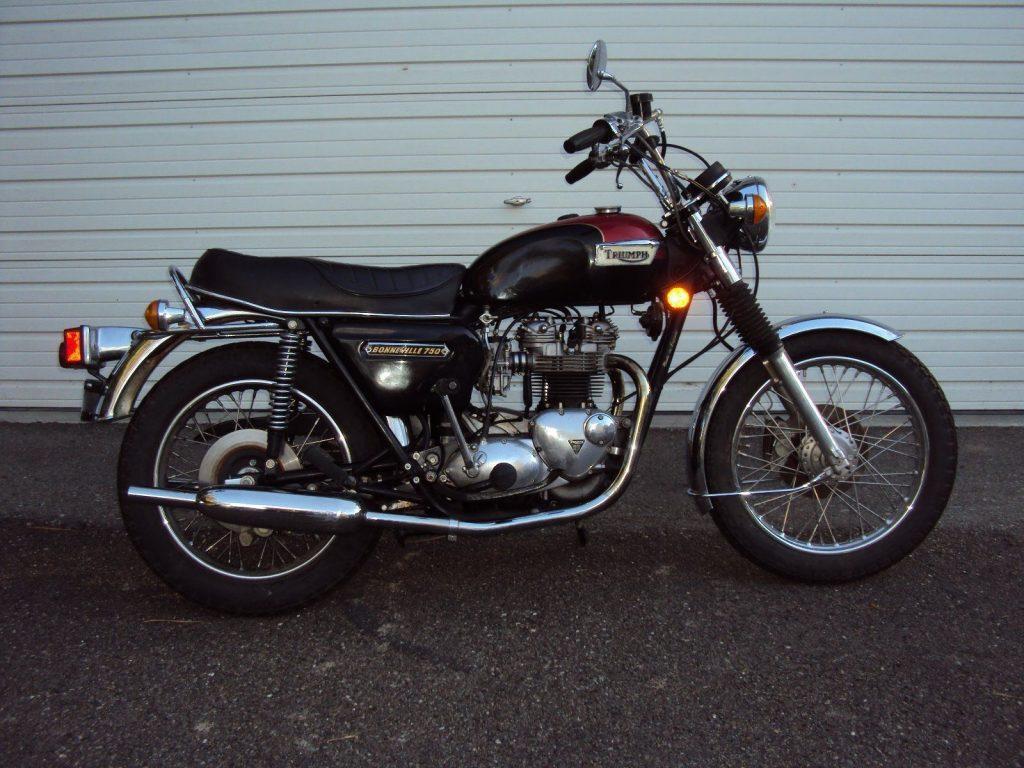 Classic 1978 Triumph Bonneville T140 with only 9600 miles