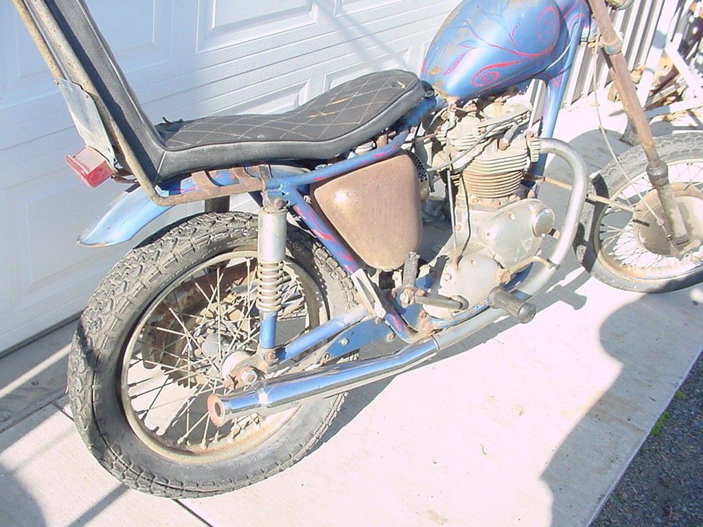 1966 Triumph Bonneville Period Chopper Capton America