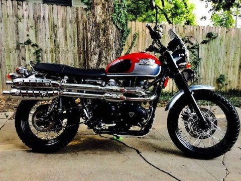 2016 Triumph Scrambler 900 red/silver for sale